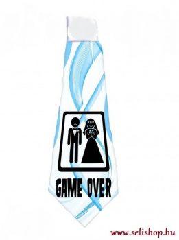 Nyakkendő GAME OVER vicces termék kék