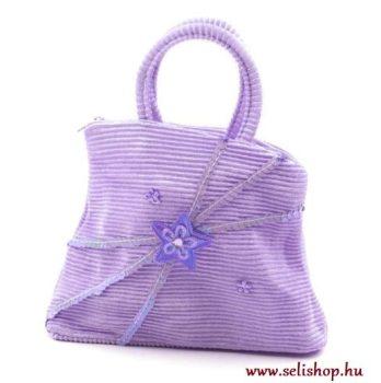 Gyermek textiltáska LETTI lila flitteres
