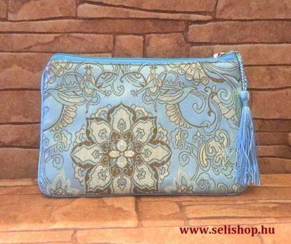 Kozmetikai táska MILENA kék türkiz rojtokkal, hímzett neszeszer