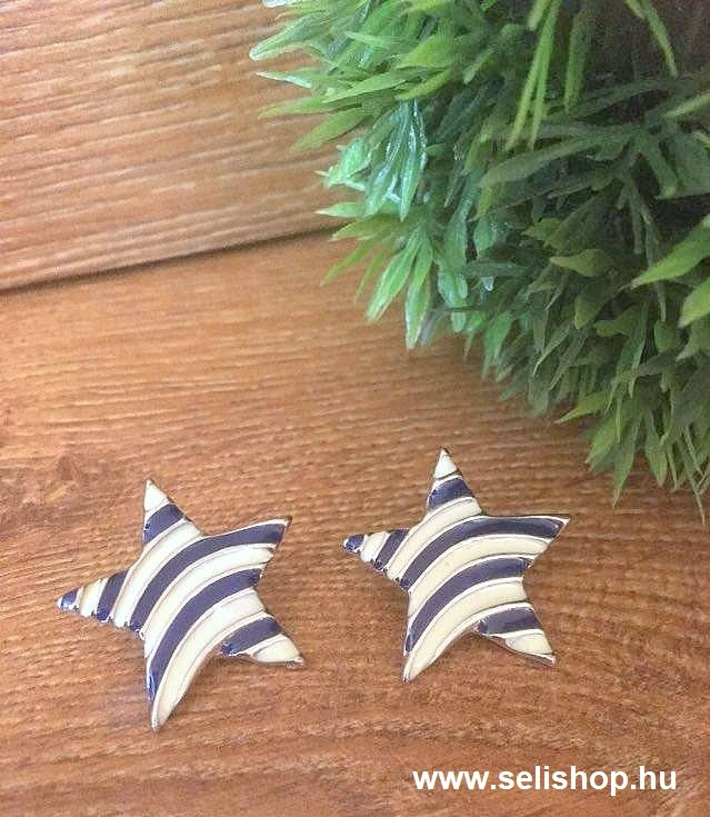 Fülbevaló STAR tengeri csillag tengerész kék fehér - SeLiShop ... 20cf35d7b0