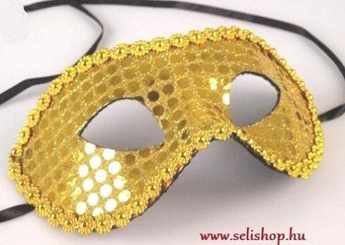 Jelmezbáli Álarc GYÖNGY arany * szilveszter