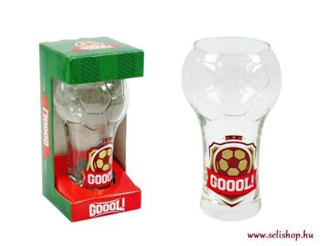 Sörös pohár GÓL focilabda formájú