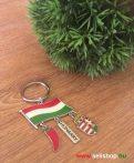 Kulcstartó HUNGARY magyaros címer paprika zászló piros fehér zöld