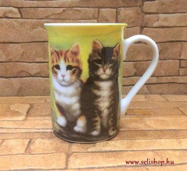 Bögre MACY macska (4) cicás ajándék (10 cm)