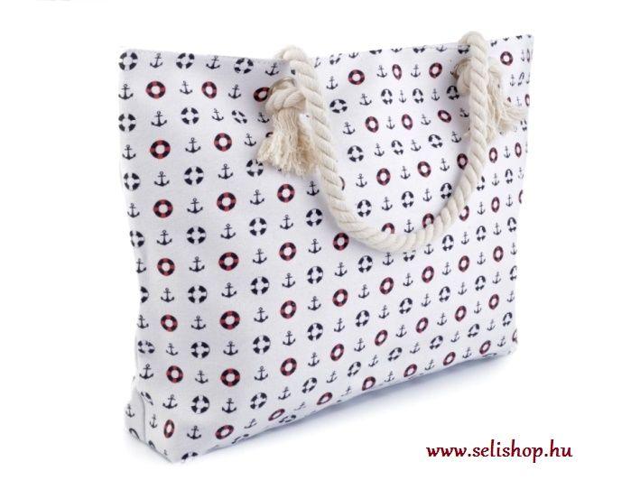 Táska textil TENGERÉSZ matróz fehér horgony - SeLiShop Ajándék Webáruház 8587d198c0