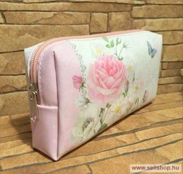 Kozmetikai táska RÓZSA  18 cm, rózsaszín