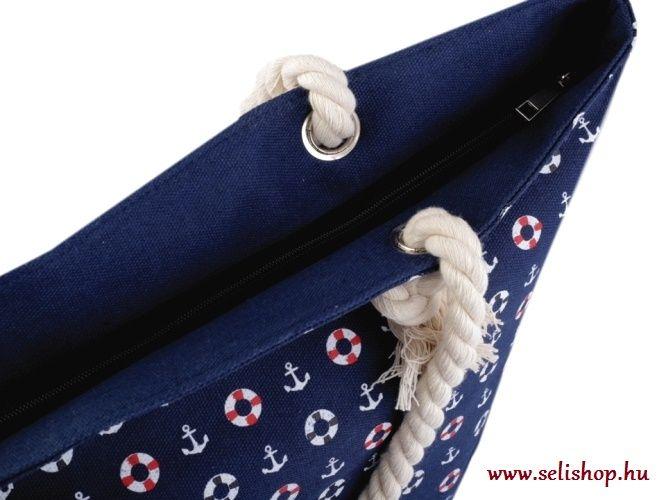 Táska textil TENGERÉSZ matróz kék horgony - SeLiShop Ajándék Webáruház f5d03bece9