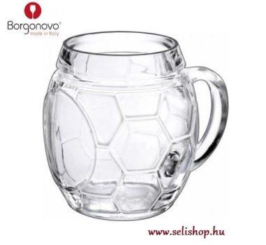 Korsó FOOTBALL focilabda, sörös pohár 0,5 L