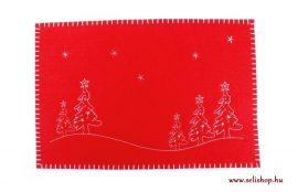 Asztali terítő tányéralátét KARÁCSONY filc 45 cm piros