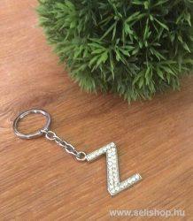 Kulcstartó BETŰ strasszköves Z névnap ajándék