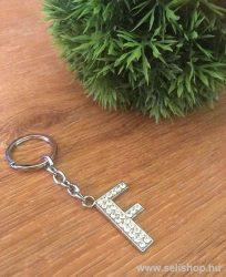 Kulcstartó BETŰ strasszköves F névnap ajándék