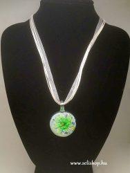 Nyaklánc ACHIMA (15) muranói jellegű üveg medál zöld
