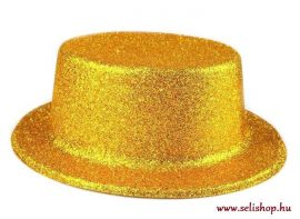 Jelmezbáli KALAP arany csillámpor, szilveszter