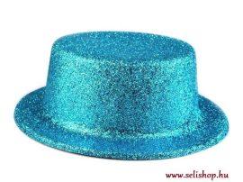 Jelmezbáli KALAP kék türkiz csillámpor, szilveszter