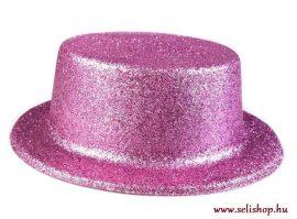 Jelmezbáli KALAP pink csillámpor, szilveszter
