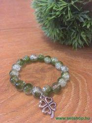 Karkötő CHARM SZERENCSE (2) női ajándék, zöld