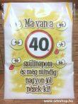 Kötény 40-es SZÜLETÉSNAP (2) vicces ajándék