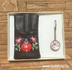 Ajándékcsomag MAGYAROS (3) matyó mintás női ajándék, díszdobozban