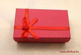 Ajándék doboz ÉKSZER piros masnis téglalap
