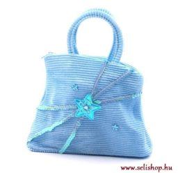 Gyermek textiltáska LETTI kék flitteres ajándék