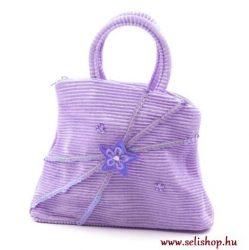 Gyermek textiltáska LETTI lila flitteres ajándék