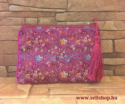 dc523b18eb Kozmetikai táska MILENA rózsaszín rojtokkal, hímzett neszeszer ...