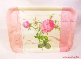 Tálca ROSE rózsa virág mintás ajándék (rózsaszín)