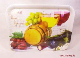 Tálca WINE boros mintás ajándék