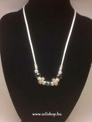 Nyaklánc SHALIMAR (2) gyöngy, strasszkő, fekete