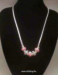 Nyaklánc SHALIMAR (3) gyöngy, strasszkő, porcelán