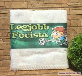 Törölköző LEGJOBB FOCISTA (1) football ajándék