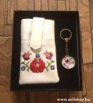 Ajándékcsomag MAGYAROS (4) matyó mintás női ajándék, díszdobozban