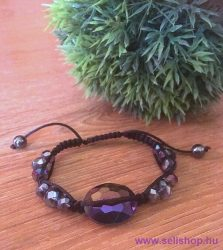 Karkötő SHAMBALLA üveggyöngy lila