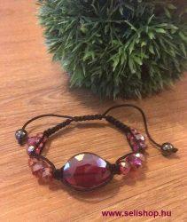 Karkötő SHAMBALLA üveggyöngy piros