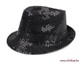 Jelmezbáli KALAP flitteres fekete *, szilveszter