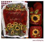 Konyhai textil szett NAPRAFORGÓ 3 részes sárga