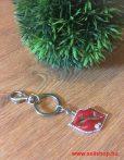 Kulcstartó KISS piros