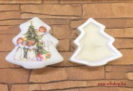 Karácsonyi mécsestartó ANGYALKA - KARÁCSONY 9 cm