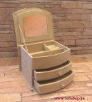 Ékszertartó doboz HELINA bézs 3 szintes