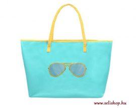 Bevásárlótáska - strandtáska EMILY 35 x 56 cm, türkiz kék