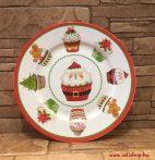 Karácsonyi kistányér MIKULÁS porcelán 20 cm