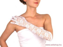 Kesztyű CSIPKE alkalmi fehér, szilveszter