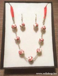 Nyaklánc - fülbevaló szett ANNEKE porcelán ékszer kollekció