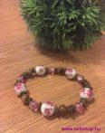 Karkötő MIRANDA porcelán, fa rózsaszín - barna