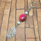 Kulcstartó MADELINE  kalitka szív szerelem medál rózsaszín