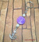 Kulcstartó MADELINE  horgony szerelem medál lila