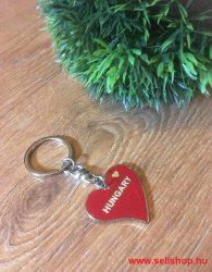 Kulcstartó HUNGARY szív