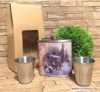 Flaska szett FARKAS - AZ ÉJSZAKA URA (1)  laposüveg 180 ml, férfi ajándék