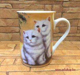 Bögre MACY macska (2) cicás ajándék (10 cm)