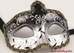 Jelmezbáli Álarc JASMINE (1) velencei, fekete-ezüst